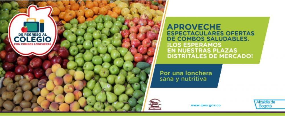 Plazas de mercado ofrecen loncheras sanas y nutritivas