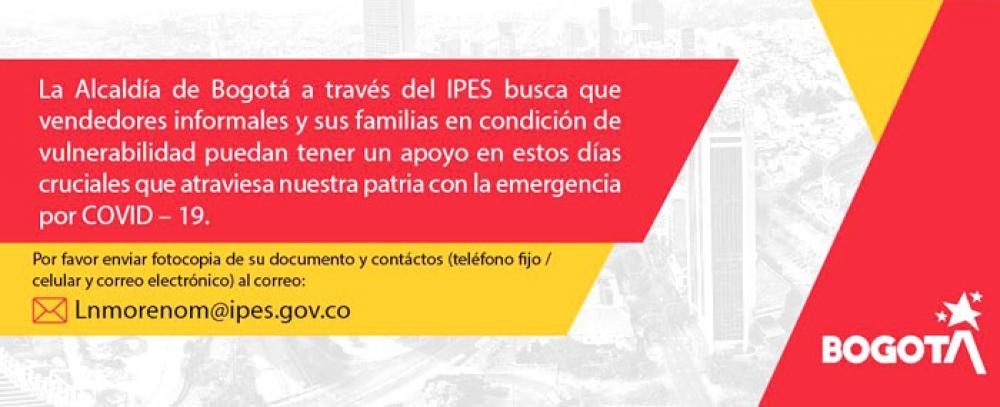 Instituto para la Economía Social - IPES en pro del bienestar de los vendedores informales y sus familias