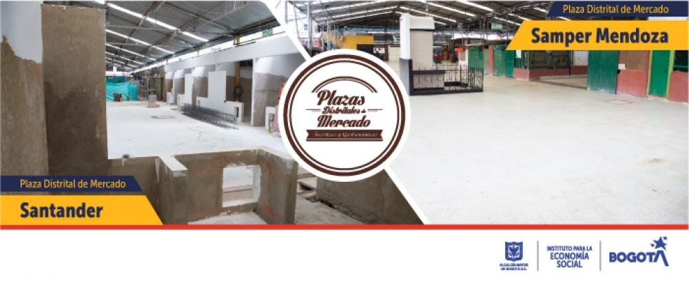 Avance obras Plazas Distritales Santander y Samper Mendoza