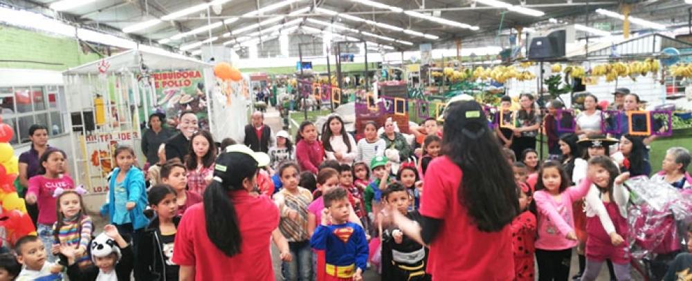 Las plazas distritales de mercado celebraron el Día de los Niños