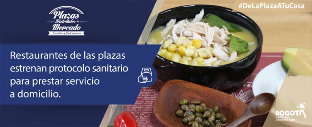 Restaurantes de las Plazas estrenan protocolo para prestar servicio a domicilio