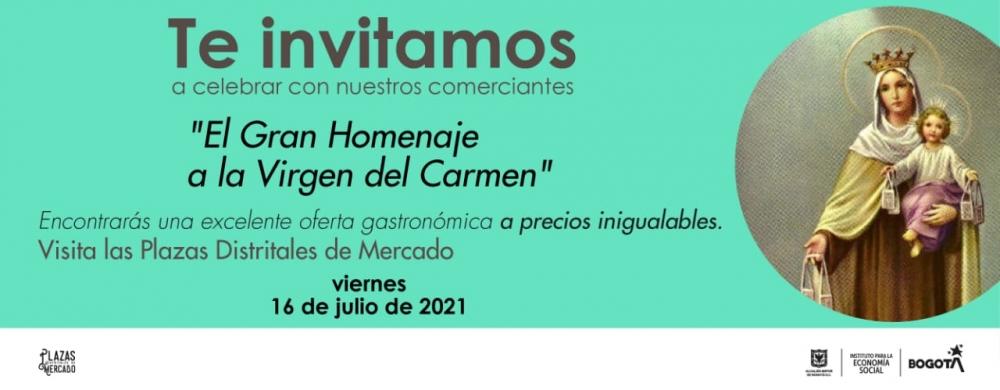 Homenaje a la Virgen del Carmen en las Plazas Distritales de Mercado